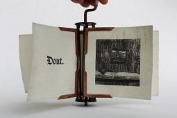 Ezaak Schliezak - Rotating Book 2013 8 1/4″ x 12″ x 11 3/4″ Lithograph, Intaglio, Copper, Silver