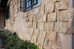 Valencia Installation Detail 2013 10' x 26′ Reductive Woodcut on Cotton Albuquerque, NM