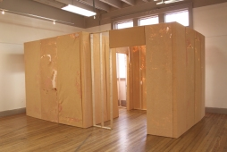 See You Later - Interior Installation 2015 8' x 15′ x 9′ Paper on Wood Frames, Found Material
